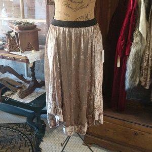 Velvet skirt multiple sizes available NWOT